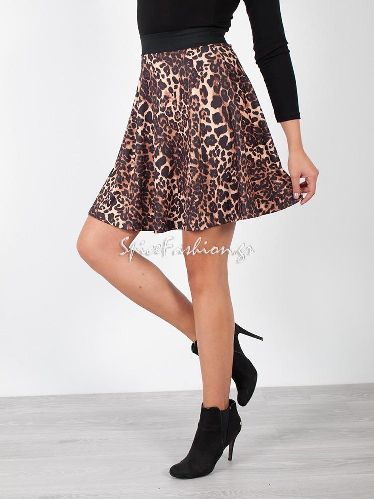 d5650df5642 Φούστα mini κλος leopard print > ΦΟΥΣΤΕΣ > Spicefashion.gr