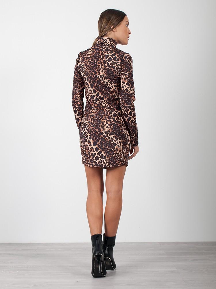 6c423eb0b355 Φόρεμα mini ζιβάγκο leopard print   ΦΟΡΕΜΑΤΑ   Spicefashion.gr