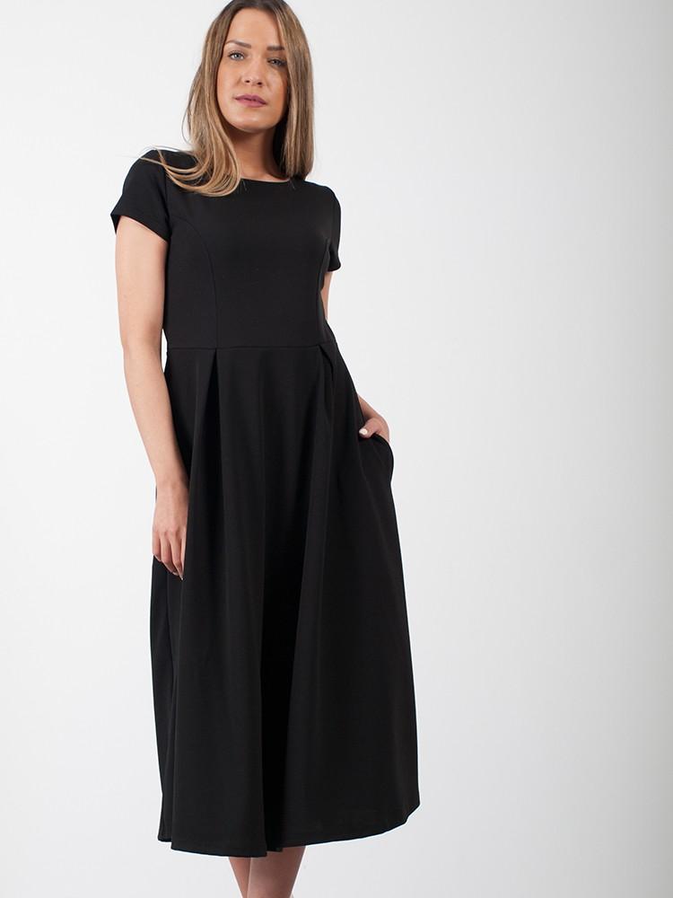 3376778b381c ... Φόρεμα midi τύπου κλος με κοντό μανίκι και τσέπες