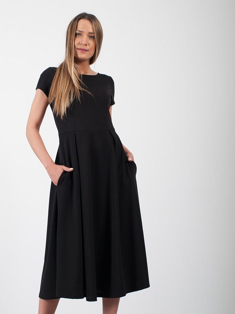 ff45f4b4d4b6 ... Φόρεμα midi τύπου κλος με κοντό μανίκι και τσέπες