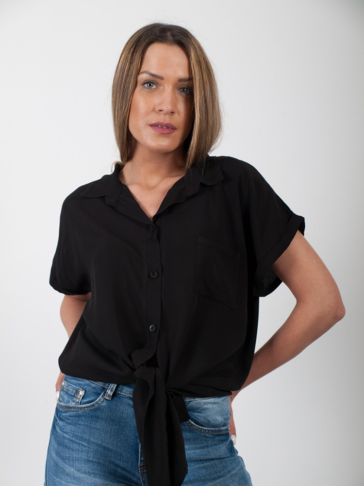 4e4a99a3230f ... Γυναικείο πουκάμισο δετό με κουμπιά